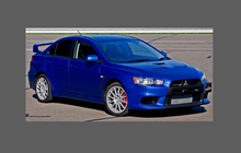 Mitsubishi Lancer Evolution 10 2007-2016, Headlights CLEAR Paint Protection