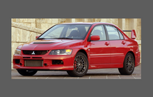 Mitsubishi Evolution 9 2005-2007 Front Bumper CLEAR Paint Protection