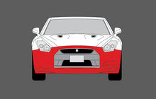 Nissan GTR (R35) 2007-2016, Front Bumper CLEAR Paint Protection