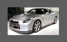 Nissan GTR (R35) 2007-Present, Door Mirror Covers CLEAR Paint Protection