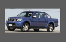 Nissan Navara (D40) 2004-2014, Rear QTR Arch CLEAR Paint Protection