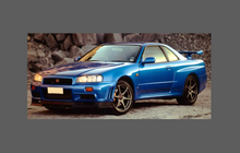 Nissan Skyline GTR (R34) 1999-2002 Bonnet & Wings Front CLEAR Paint Protection