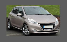 Peugeot 208 2012-2019, Headlights CLEAR Stone Protection