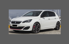 Peugeot 308 (Type MK2) 2014-, Bonnet & Wings Front CLEAR Paint Protection