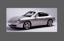 Porsche 911 (996) 1998-2005 Large Rear QTR / Wing BLACK Paint Protection
