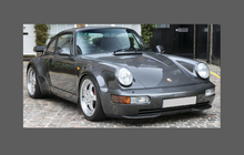 Porsche 911 964 Turbo (1989-1993), Rear QTR & Skirt BLACK TEXTURED Paint Protection CLASSIC