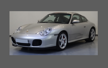 Porsche 911 C4S (996) 2002-2005 Large Rear QTR / Wing CLEAR Paint Protection