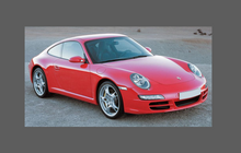 Porsche 911 (997) 2004-2012 Rear QTR / Wing BLACK TEXTURED Paint Protection