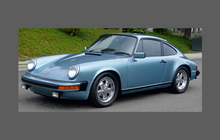 Porsche 911 Classic Carrera 3.2 / SC Standard Body, Rear QTR / Wing Arch CLEAR Paint Protection