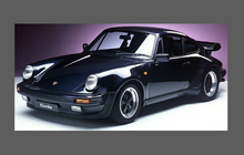 Porsche 911 Classic 3.2 Carrera Supersport Wide Body, Rear QTR / Wing Arch BLACK TEXTURED Paint Protection