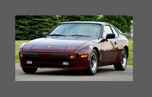 Porsche 944 (S, Turbo)(1982-1991), Bonnet, Wings & Light Covers CLEAR Paint Protection CLASSIC