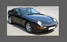 Porsche 968 (1992-1995), Rear QTR & Skirt CLEAR Paint Protection