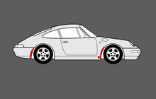 Porsche 911 (993) 1993-1998 Arch Edges Set CLEAR Paint Protection CLASSIC
