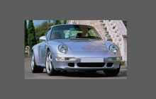 Porsche 911 C4S / Turbo (993) 1993-1998 Rear QTR / Wing BLACK TEXTURED Paint Protection CLASSIC