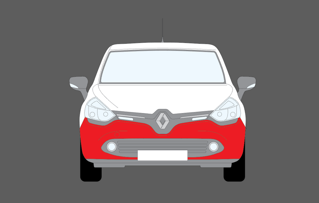 Renault Clio Cup Trophy 2017 2019 Front Bumper Clear Paint Protection Aliath