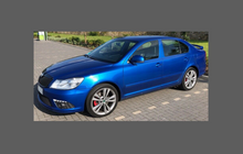 Skoda Octavia Mk2 (Type 1Z) 2004-2013 , OE Style Rear QTR Lower Arch CLEAR Paint Protection