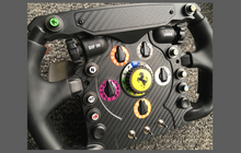 Thrustmaster Ferrari F1 Sim Steering Wheel, CARBON FIBRE EFFECT Styling & Scratch Protection Kit