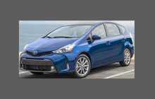 Toyota Prius Plus + 2012-Present, Headlights CLEAR Stone Protection