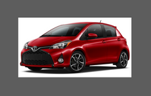Toyota Yaris 2015-2020, Door Handle Cups CLEAR Paint Protection