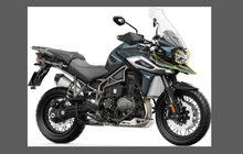 Triumph Tiger Motorcycle 2018-, Front Nose & Headlight CLEAR Paint Protection Kit