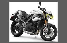 Triumph Speed Triple Motorcycle 2018-, Headlights CLEAR Paint Protection Kit