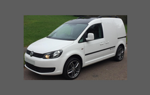Volkswagen Caddy Van 2010-2015, Bonnet & Wings Front Sections CLEAR Paint Protection