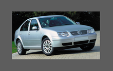 Volkswagen Bora / Jetta (MK4) 1999-2006 , Front Bumper CLEAR Paint Protection