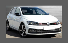Volkswagen Polo (Type Mk6) 2018-, Rear Bumper Upper CLEAR Paint Protection