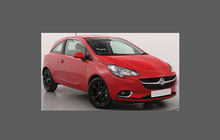 Vauxhall Corsa (Type E) 2014-, Rear Bumper Upper CLEAR Paint Protection