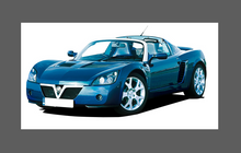 Vauxhall VX220 / Opel Speedster 2000-2005, Front Bumper CLEAR Paint Protection