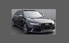 Audi RS6 A6 S6 (Type 4G) 2015-2019, Mirror Caps CLEAR Paint Protection