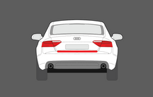 Audi A5 S5 RS5 (Type 8T Facelift) 2011-2016, Rear Bumper Upper CLEAR Paint Protection