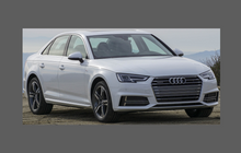 Audi A4 / S4 / RS4 (Type B9 8W) 2016-, Headlights CLEAR Stone Protection