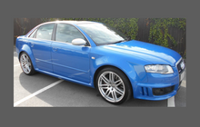 Audi RS4 (Type B7) 2004-2008, Side Sill Skirt Trims CLEAR Paint Protection