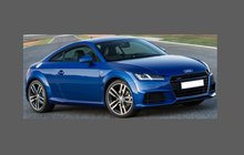 Audi TT S-Line (Type 8S) 2014-, Front Bumper CLEAR Paint Protection