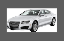 Audi A7 / RS7 / S7 (Type 4G8) 2010-2015, Bonnet & Wings CLEAR Paint Protection