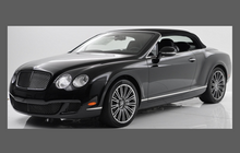 Bentley Continental Coupe 2009-2011, Headlights CLEAR Stone Protection