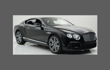 Bentley Continental Coupe 2015-2018, Front Wing Headlight Panels CLEAR Paint Protection