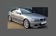 BMW 3-Series Coupe (Type E46) 2003-2006, Roof front CLEAR Paint Protection