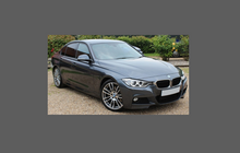 BMW 3-Series (Type F30 F31) 2012-, Door Handle Cups CLEAR Paint Protection