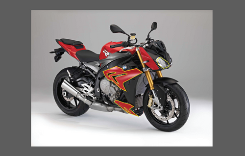 BMW Motorcycle S1000R 2014-2016, Front Nose CLEAR Paint Protection