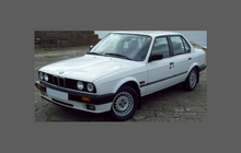 BMW 3-Series (Type E30) 1982-1994, Bonnet & Wings CLEAR Paint Protection CLASSIC