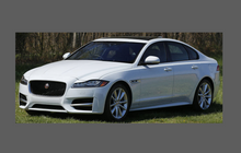 Jaguar XF Sport (Gen 2) 2015- Side Sill Skirt Trim Rear BLACK Paint Protection