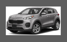 Kia Sportage 2016-2019, Front Bumper CLEAR Paint Protection
