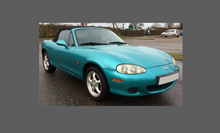 Mazda MX-5 (2nd Gen) 2001-2005 Front Bumper CLEAR Paint Protection