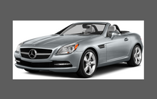 Mercedes-Benz SLK Class (R172) 2012-2015 Headlights CLEAR Paint Protection
