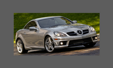 Mercedes-Benz SLK 55 AMG (R171) 2004-2010 Side Sill Skirts CLEAR Paint Protection
