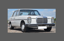 Mercedes-Benz W114 / W115 1968-1976, Headlights CLEAR Stone Protection CLASSIC
