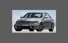 Mercedes-Benz C Class C63 AMG (W204) 2007-2011 Side Sill Skirt Trims CLEAR Paint Protection