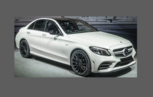 Mercedes-Benz C Class Coupe C43 (C205) 2016-, Front Bumper CLEAR Paint Protection